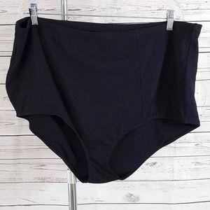 Torrid black textured waffle bikini swim bottoms